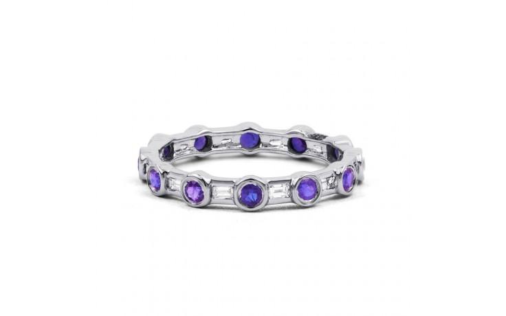Tanzanite & Diamond Full Eternity Ring Band 0.42ct 3mm product image 1