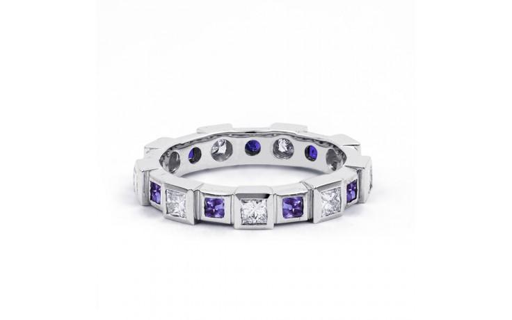 18ct White Gold Tanzanite & Diamond Designer Eternity Ring 0.75ct 5mm product image 1