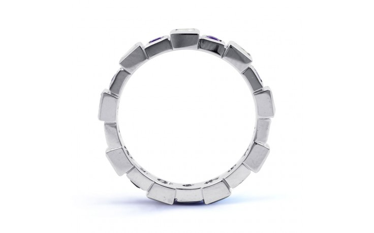 18ct White Gold Tanzanite & Diamond Designer Eternity Ring 0.75ct 5mm product image 3