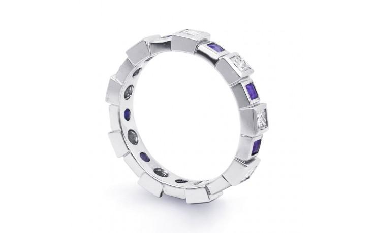 18ct White Gold Tanzanite & Diamond Designer Eternity Ring 0.75ct 5mm product image 2