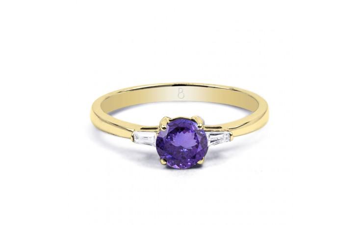Tanzanite Round Gold Ring product image 1
