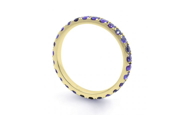 18ct Yellow Gold Tanzanite Gemstone Eternity Band 2.2mm product image 2