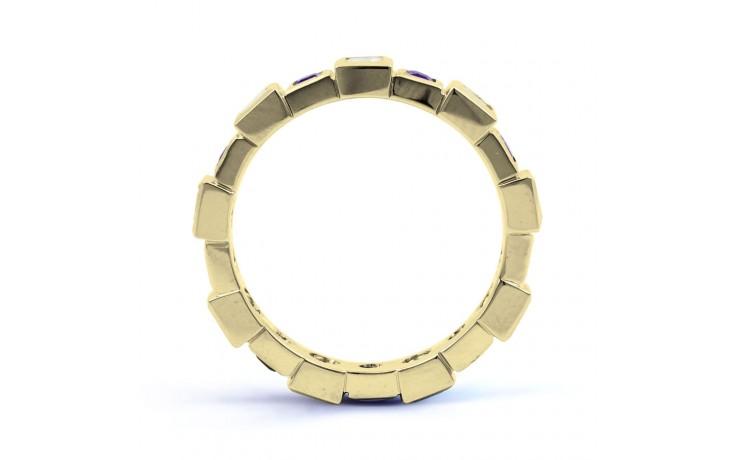 18ct Yellow Gold Tanzanite & Diamond Designer Eternity Ring 0.75ct 5mm product image 3