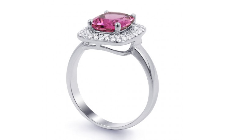 Tourmaline Cushion White Gold Ring product image 2