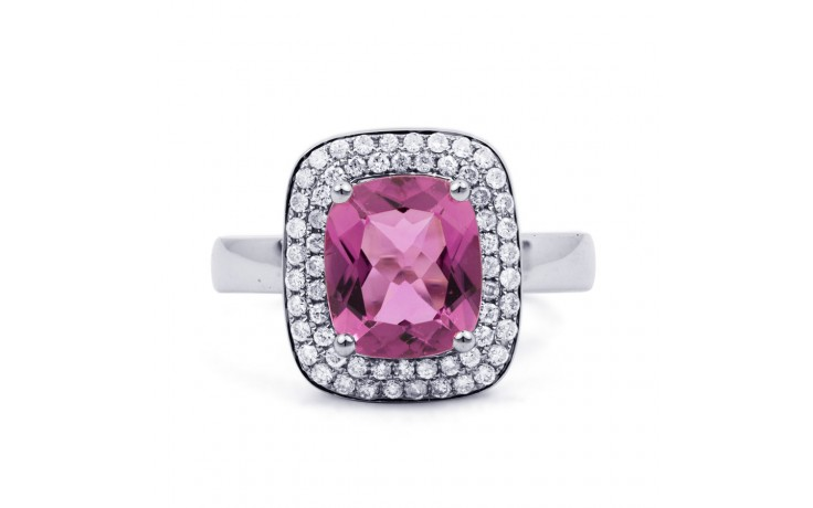 Tourmaline Cushion White Gold Ring product image 1