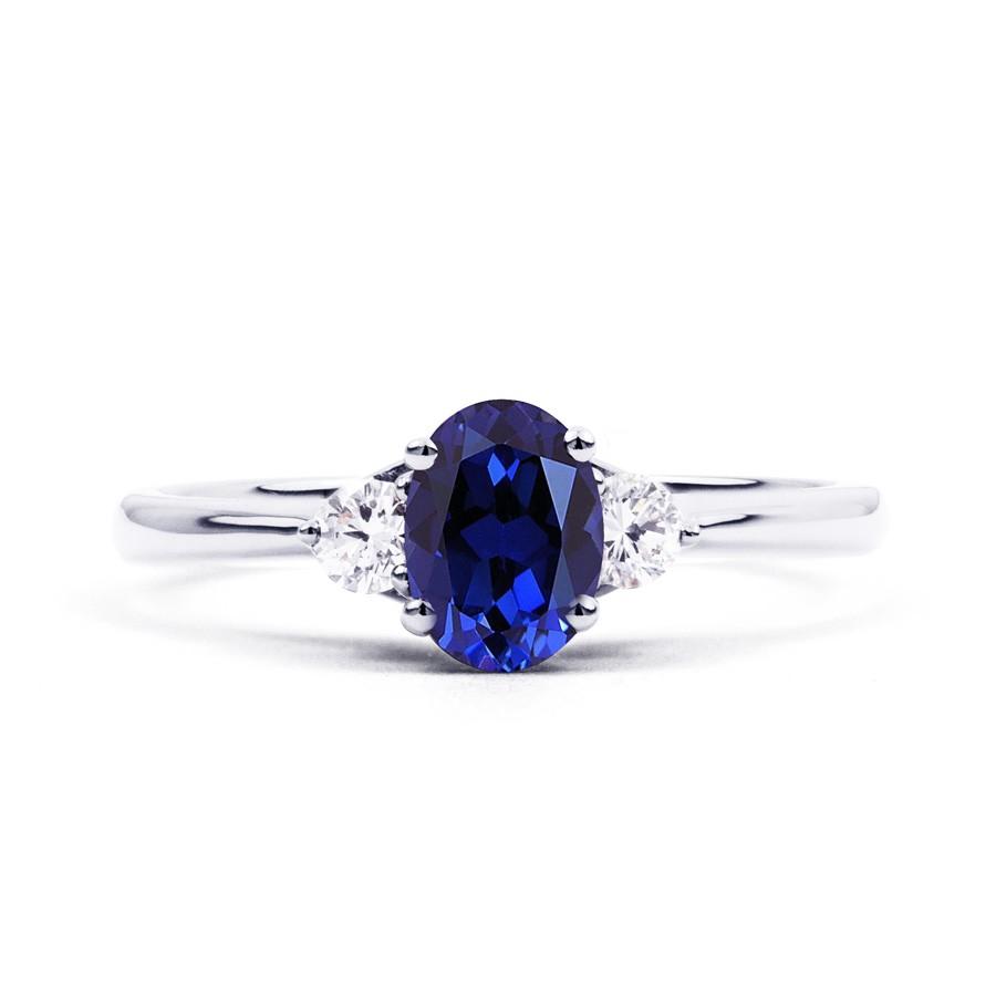 Sapphire And Diamond Eternity Ring Platinum