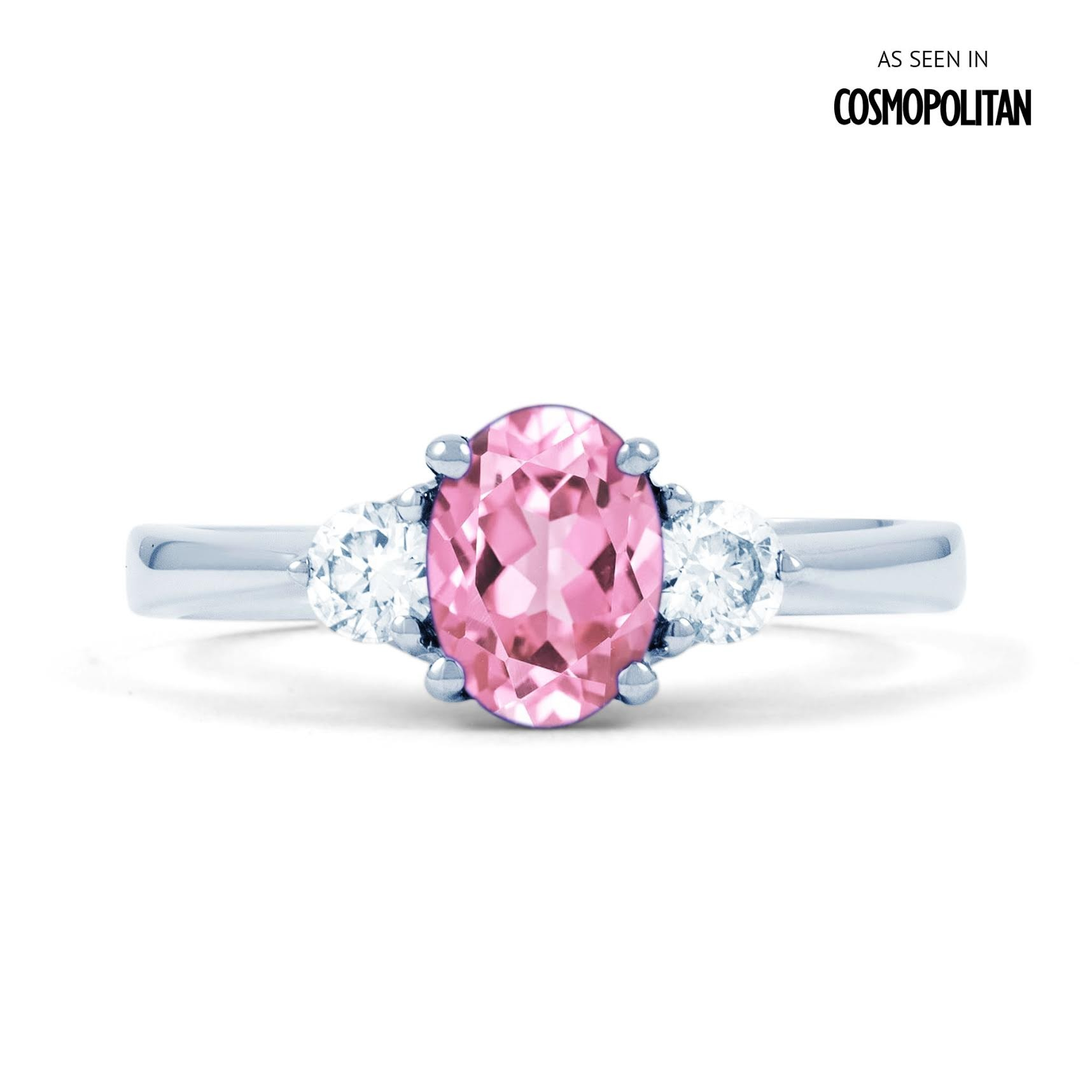 Paragon 18ct White Gold Pink Sapphire and Diamond ...