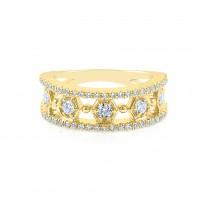 Vintage Yellow Gold Diamond Eternity Ring