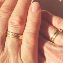 Yellow Gold & Diamond Couple Wedding Rings