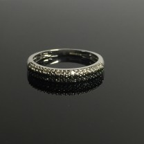 White & Black Diamond Eternity Ring