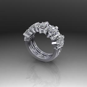 Bespoke Marquise & Baguette Diamond Ring