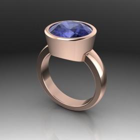 Bespoke Tanzanite & Rose Gold Ring