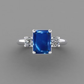Bespoke Kashmir Blue Sapphire Ring