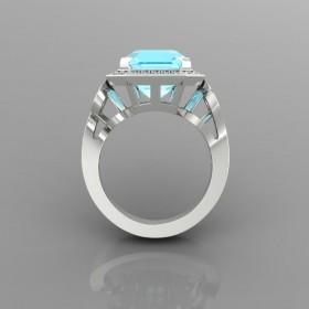 Bespoke Aquamarine Engagement Ring