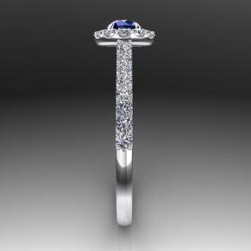 Bespoke Blue Sapphire Engagement Ring