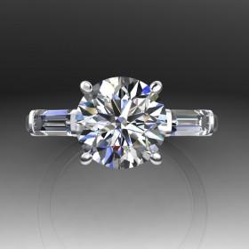 Bespoke GIA Round Brilliant Diamond Engagement Ring