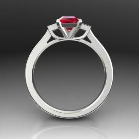 Bespoke Modern Ruby Ring