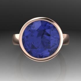 Bespoke Round Tanzanite Engagement Ring