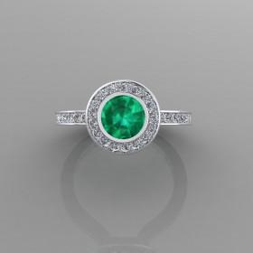 Bespoke Zambian Emerald Engagement Ring