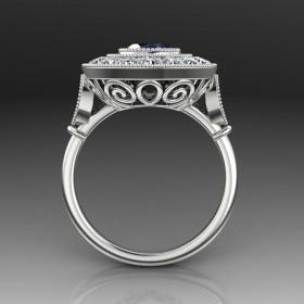 Bespoke Art Deco Sapphire Ring