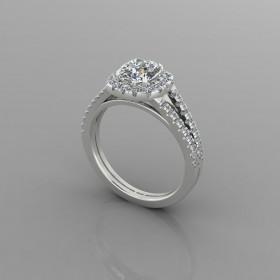 Bespoke Cushion Diamond Engagement Ring