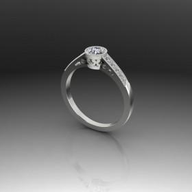 Bespoke Milgrain Diamond Engagement Ring