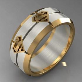 Bespoke Superman Inspired Wedding Ring
