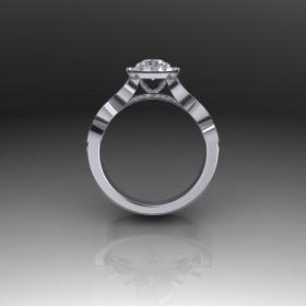 Bespoke Contemporary Diamond Engagement Ring