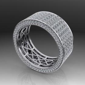 Bespoke Cluster Diamond Wedding Ring