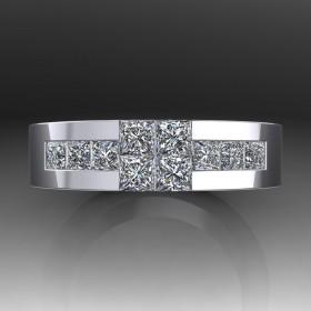 Bespoke Fancy Diamond Wedding Ring