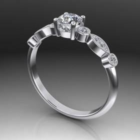 Bespoke Milgrain Diamond Ring