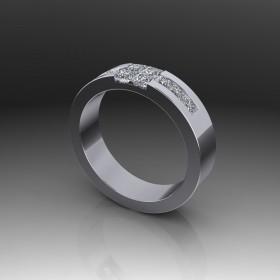 Bespoke Princess Cut Diamond Wedding Ring