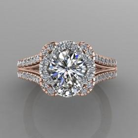 Bepsoke Two Tone Diamond Engagement Ring