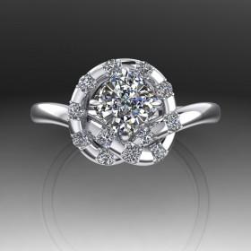 Bespoke Diamond Japanese Love Knot Ring