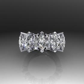 Bespoke Fancy Diamond Promise Ring