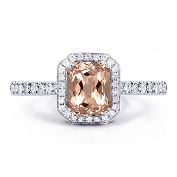 morganite custom ring
