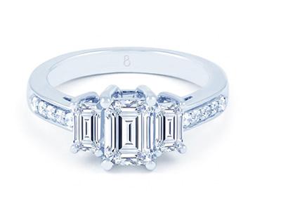 Emerald shape ring