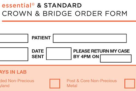 Essential & Standard Order Form