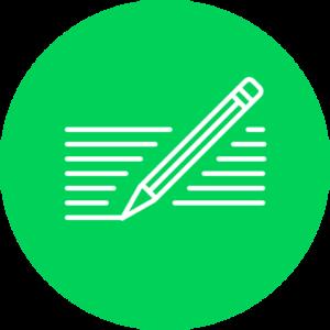 schrijven-groenecirkel