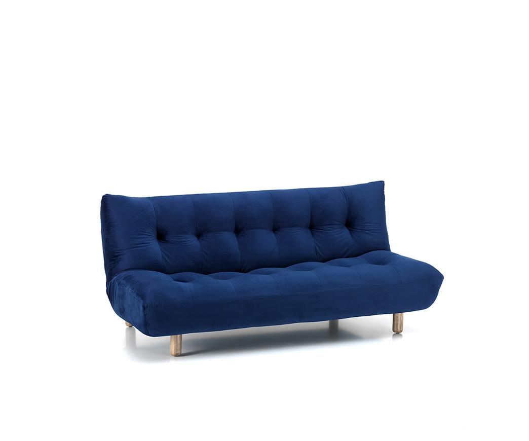 Divano letto cloud in velluto blu scuro duzzle - Divano letto blu ...