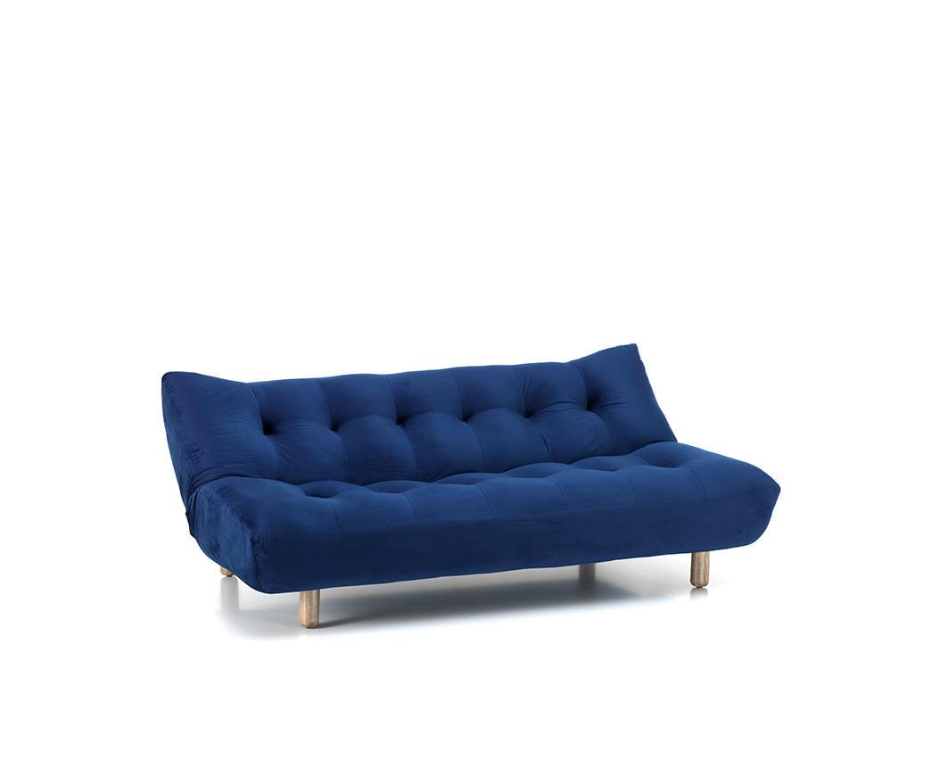 Divano letto cloud in velluto blu scuro duzzle for Divano velluto blu