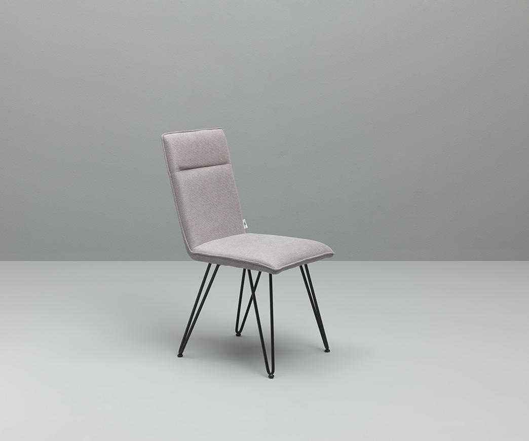 Sedia Imbottita Design : Sedia elice in microfibra grigio chiaro duzzle