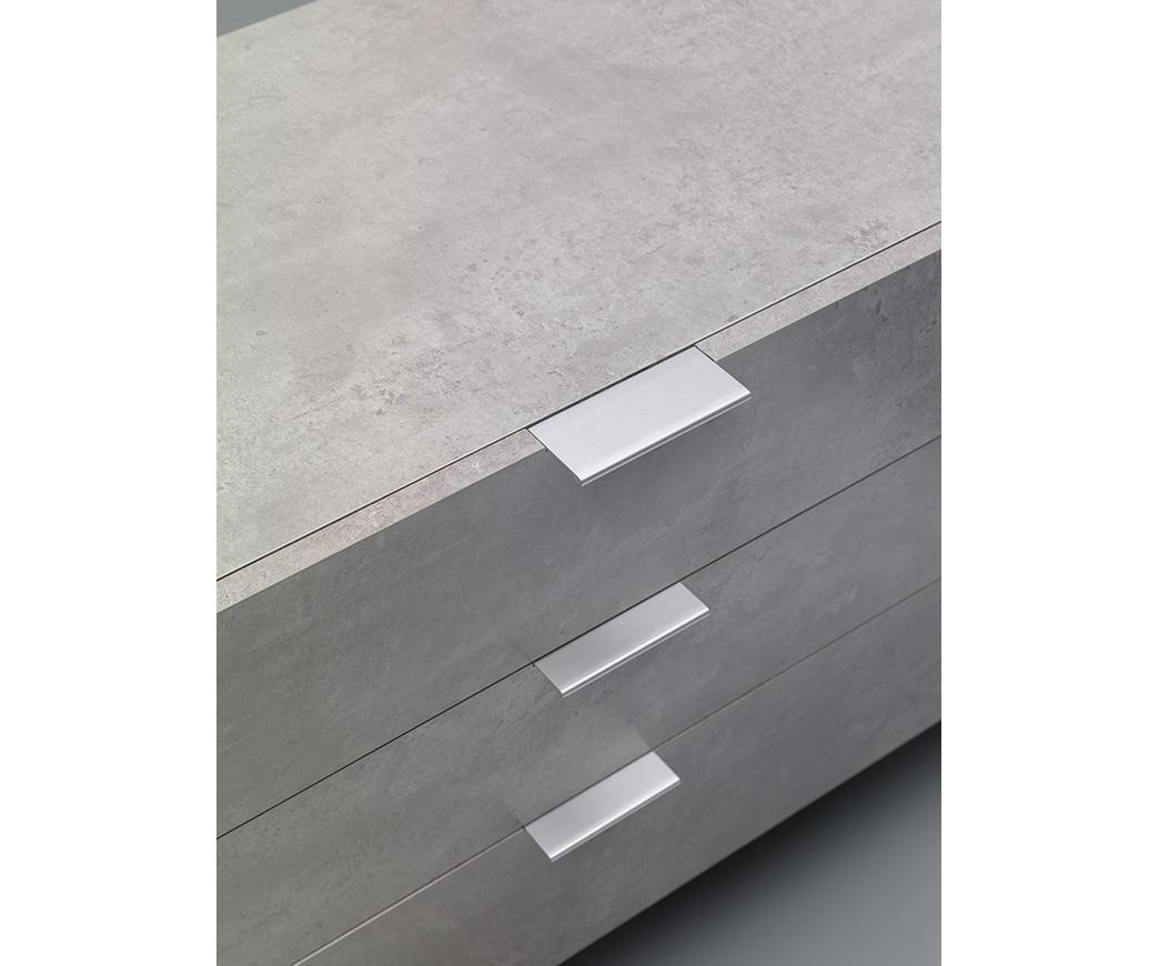Credenza Moderna Cemento : Madia buffet kakul colore bianco ed effetto cemento di twist design