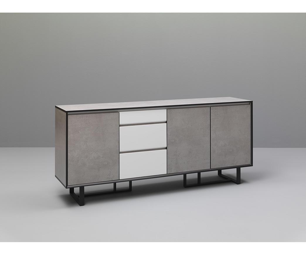 Credenza Moderna Cemento : Madia buffet hylio colore bianco ed effetto cemento di twist design