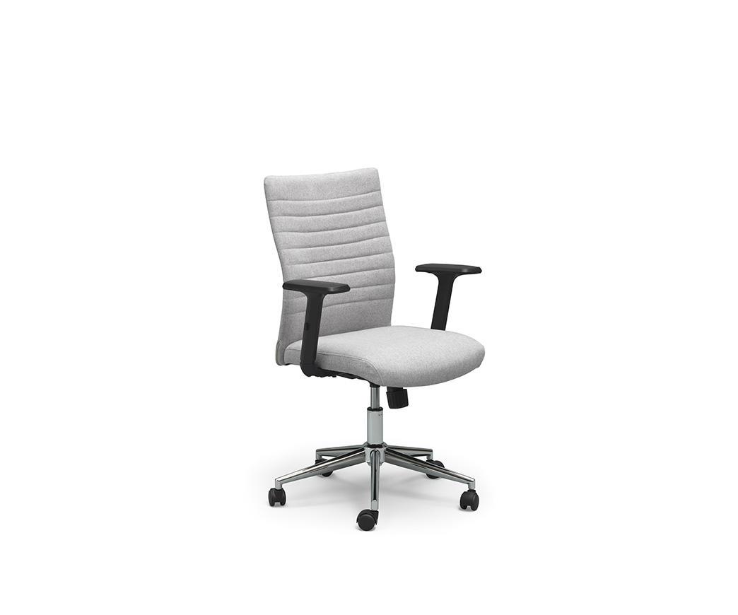 Poltrona da ufficio con rotelle ghat grigio chiaro di twist design duzzle - Sedia con rotelle per ufficio ...