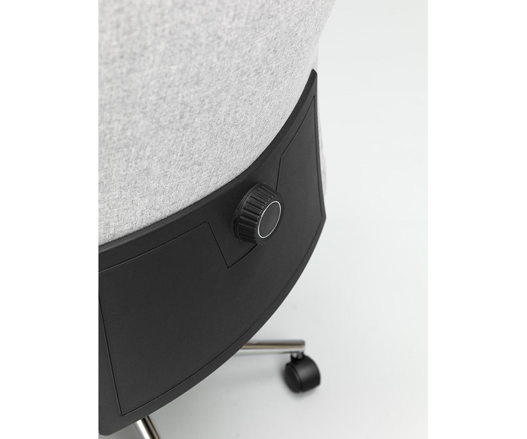 Poltrona da ufficio con rotelle ghat grigio chiaro di twist design
