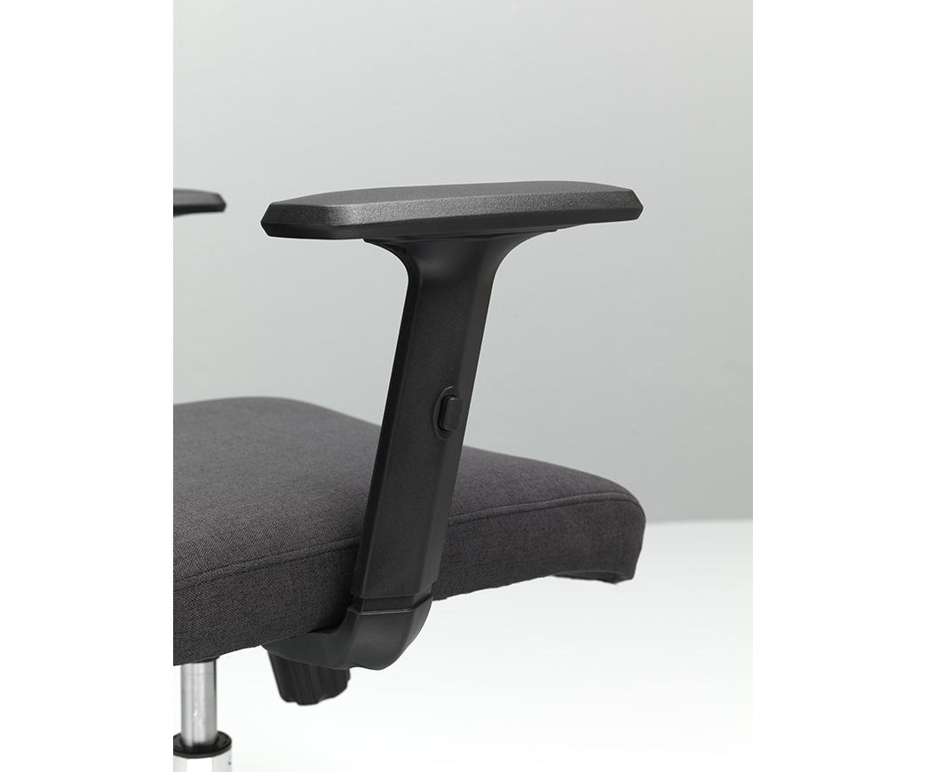 Poltrona da ufficio con rotelle ghat grigio scuro di twist design