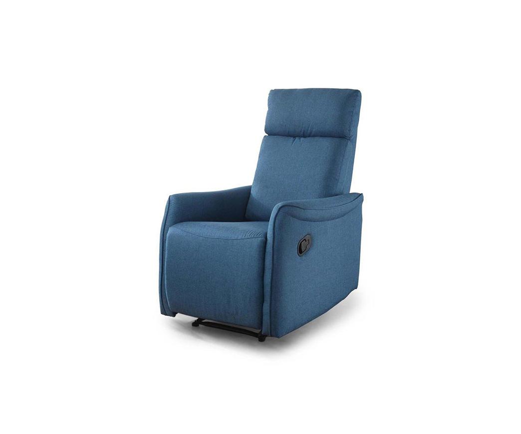 Poltrona relax reclinabile manualmente michela tessuto blu duzzle