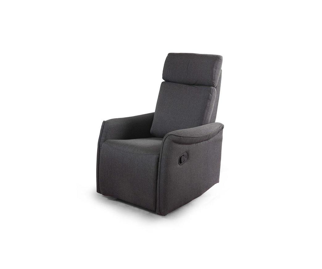 Poltrona relax reclinabile manualmente michela tessuto grigio duzzle