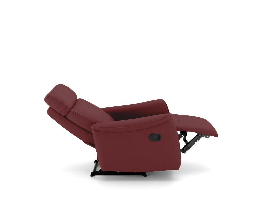 Poltrona Relax Reclinabile.Poltrona Relax Reclinabile Manualmente Michela Tessuto Rosso